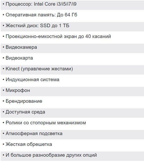 Сенсорный стол УЛЬТРА 65